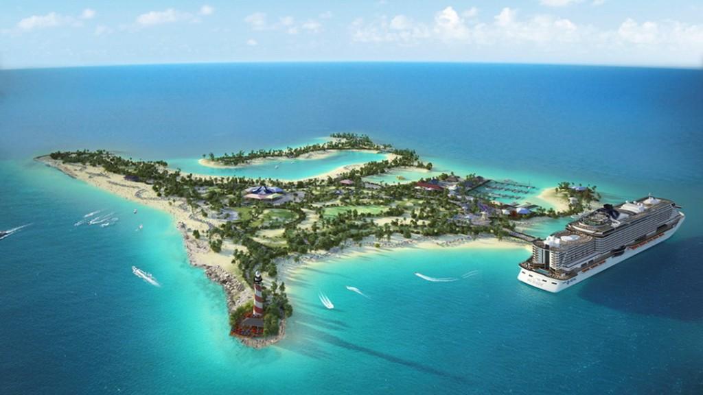 Ocean Cay MSC Marine Reserve, ilha privativa na Bahamas, será aberta em novembro.
