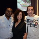 Raul Caetano, Sandra Caetano e Yzaac Matos, da SMC Turismo