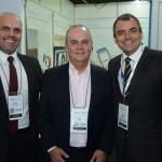 Roberto Gracioso, do Hotel Century Paulista, Pedro Fortes, da ABIH-RJ, e Gustavo Guimarães, da ABIH-ES