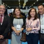 Robson Napier Borchio, Ana Claudia Pereira, da Amazonastur, Roselene Medeiros, do Fornatur, e Aluizer Malab, do MTur