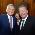 Ronaldo Caiado, governador do Goiás, e Alexandre Sampaio, presidente do FBHA