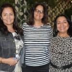 Rosana Bomfim, da RBM Tour Viagens, Sandra Augusta, do Vamos de Excursão, e Margot Moreira, da MM Eventur