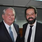 Roy Taylor, presidente do M&E e Daniel Nepomuceno, secretário-executivo do Ministério do Turismo