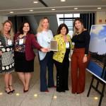Sara Sousa, do Visit São Paulo, Elisa Mussolino, Joscilene Costa, Marilda Souza e Natascha Agnes, do Bradesco