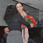 Sarita Pessoa, esposa de Gilson Machado Neto, recebeu uma homenagem