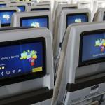 Telas de entretenimento da cabine principal do A330neo