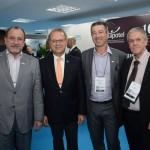 Toni Sando, do Visite SP, Orlando Souza, do FOHB, Carlos Bernardo, da Accor, e José de Oliveira Justo, da INPACT