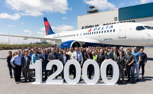 Airbus comemora marca de 12 mil aeronaves entregues