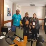 Agentes com o diretor da Mondiale, Edson Ruy
