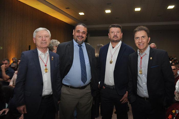 Alejandro Carbalho, do Caminho de Santiago, Washington Serra, diretor de Marketing de Foz, Jesús Ares, da YU Travel, e Hugo Zamponi, do Caminho de Santiago