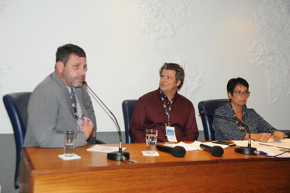 Alexandre Gomes, do Pier Mauá, Mauricio Werner, da Riotur, e Cristina Fritsch, da Abav-RJ