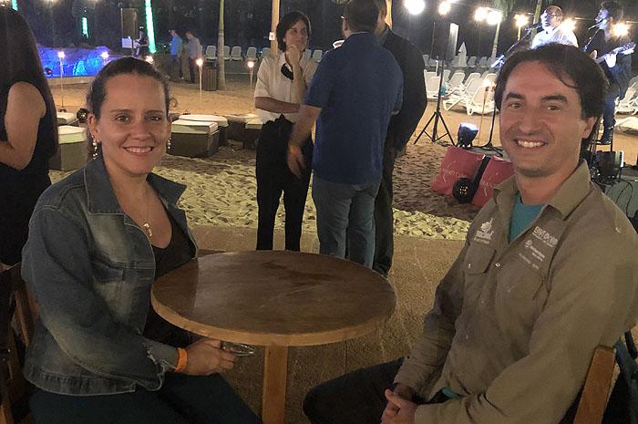 Alini Nunes, da Adetur, e Tiago Choinski, da BWT Operadora