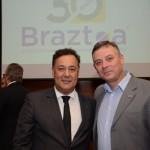 Aluizer Malab, do MTur, e Ângelo Thurler, secretário de Turismo de Canela