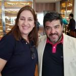 Andrea Cox, da Lufthansa Group, e Mauro Popovs, da Vered Hasharon Israel