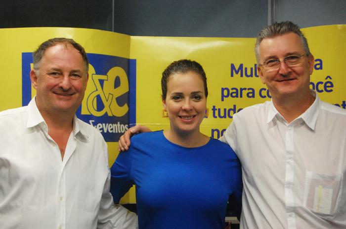 Andreas Blass, CEO da Caribbean Tours; Caroline Gramaglio, fundadora da Duo Network; e Daniel Kung, presidente e CEO da Aratours