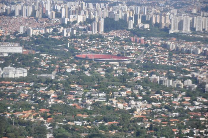 Avião sobrevoou o Morumbi, palco da abertura da Copa América 2019
