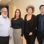 Azuil Martin, da Hometur Viagens, Elizangela Silva, da MSC, Anne Carvalho, da Hometur Viagens, e Lucas de Almeida, da MSC