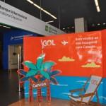 Balcão de check-in promoveu o novo voo