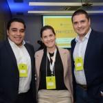 Bruno Melo, da Air France, Renata Mirandola, da Delta, e Rafael Dessunti, da Capgemini