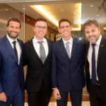 Buno Cordaro e Vitor Spirandelli, da MSC, com Arthur Araujo, da Logi Travel, e