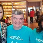 Camilla Haydshi, da Ville Turismo, Douglas Mendes e Solange Ferreira, da Ancoradouro