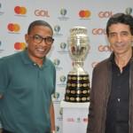 Com as presenças de Cesar Sampaio e Mauro Galvão, a Gol transportou a Taça da Copa América do Rio de Janeiro para São Paulo, onde aconteceu a abertura do torneio.