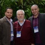 Clayton Ramos, da Atlas Operadora, Roberto Namindome, da VIP Trip, e Anderson Almeida, da Londontur