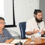 Cristina Fritsch, da Abav-RJ, e Rudolph Hasan, da Companhia de Desenvolvimento da Região do Porto