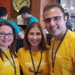 Danielle Reis, Karla Cozer e Kleber Meirelles, da Mondiale de Vitoria