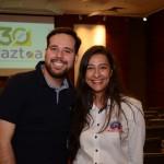 Danilo Dessotti, da Braztoa, e Rafaela Marques, do Beto Carrero World