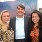 Dayana Abrantes, Marcos Almeida e Alexandra Cruz, da GOL