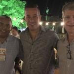 Eduardo Alexandre, do Portal de Hotéis, Luciano Motta, do Mabu, e Candido Ferreira Neto, da Stand Soluitons