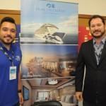 Eduardo Senna e Pablo Zabala, da Discover Cruises