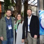 Flavio Ayra, da CVC Corp, Renata Esteves e Luciano Guimarães, da Rexturadvance