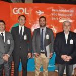 Gentil Venâncio, da Secretaria de Ecoturismo do Ministério do Meio Ambiente, com Carlos Brito, Marcus Thiago e Silvio Nascimento