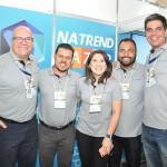 Gustavo Hahn, Roverto Lazzarotto, Mariana Alcobas, Diego Marcel e Dimas Lima, da Trend