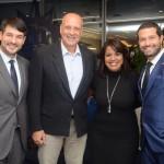 Ignacio Pálacios, da MSC, Alexandre Schimdt Fernandes, da Tilli Viagens, Lia Fagundes, da Acapulco Turismo, e Bruno Cordaro