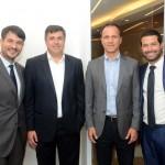 Ignacio Palácios, da MSC, Kleber da Silva, da Abrel, Roberto Roman, da Travel Ace, e Bruno Cordaro, da MSC