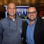 Jair Navarro e Valmir Moraes, da Operadora Transmundi