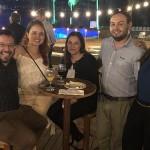 José Perie, do Mabu, com Raimar Barrios, Patricia Fonseca, Samuel Cardoso, e Victoria Gaffner, da Iemanja Viajes Y Turismo