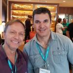 Jose Luiz Pereira, da Espiral Turismo (Rio) e Marcio Franco, da Mais Destinos (MG)