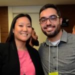 Lina Yamagami, da Accor, e Alex Albuquerque, da BASF SA