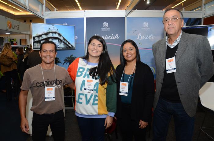 Luciano Andrade, Thainá Venancio e Simone Almeida da Setur-ES e José Olavo, do Espirito Santo CVB