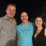 Luciano Motta, do Mabu, com Ary Xavier e Carla Biancato, da Flytour Viagens