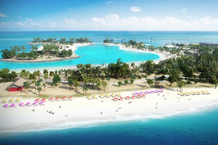 . A ideia da ilha é imergir os hóspedes na beleza natural de seus arredores nas Bahamas. (Divulgação)