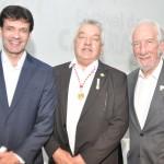 Marcelo Álvaro Antônio, ministro do Turismo, Paulo Angeli, do Festival das Cataratas, e Darci Piana, vice-governador do Paraná