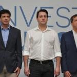 Marcelo Alvaro Antonio, ministro do Turismo, Ratinho Jr., governador do Paraná, e Chico Brasileiro, prefeito de Foz do Iguaçu