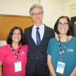 Marcia Galvão, da NCL, Marco Ferraz, da Clia Brasil, e Andrea Azem, da Velle