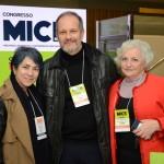 Maria Clália, Alexandre Marcilio e Adele Bartolucci, do Transamerica Expo Center