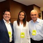 Mateus Passos, da Tour House, Marta Santos e Sergio Ricardo de Oliveira, da Abril Comunicações